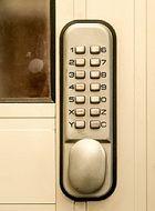 Lightweight Aluminium door with Digital Code Lock