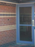 Mental health hospital door