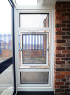 Aluminium parallel window