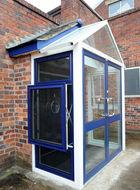 open aluminium parallel window