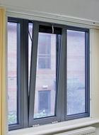 Aluminium drop back opening window