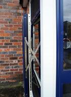 Side view of aluminium parallel window