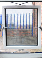 Close up of open aluminium parallel window